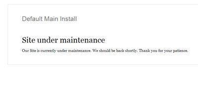 Website Under Maintenance Image